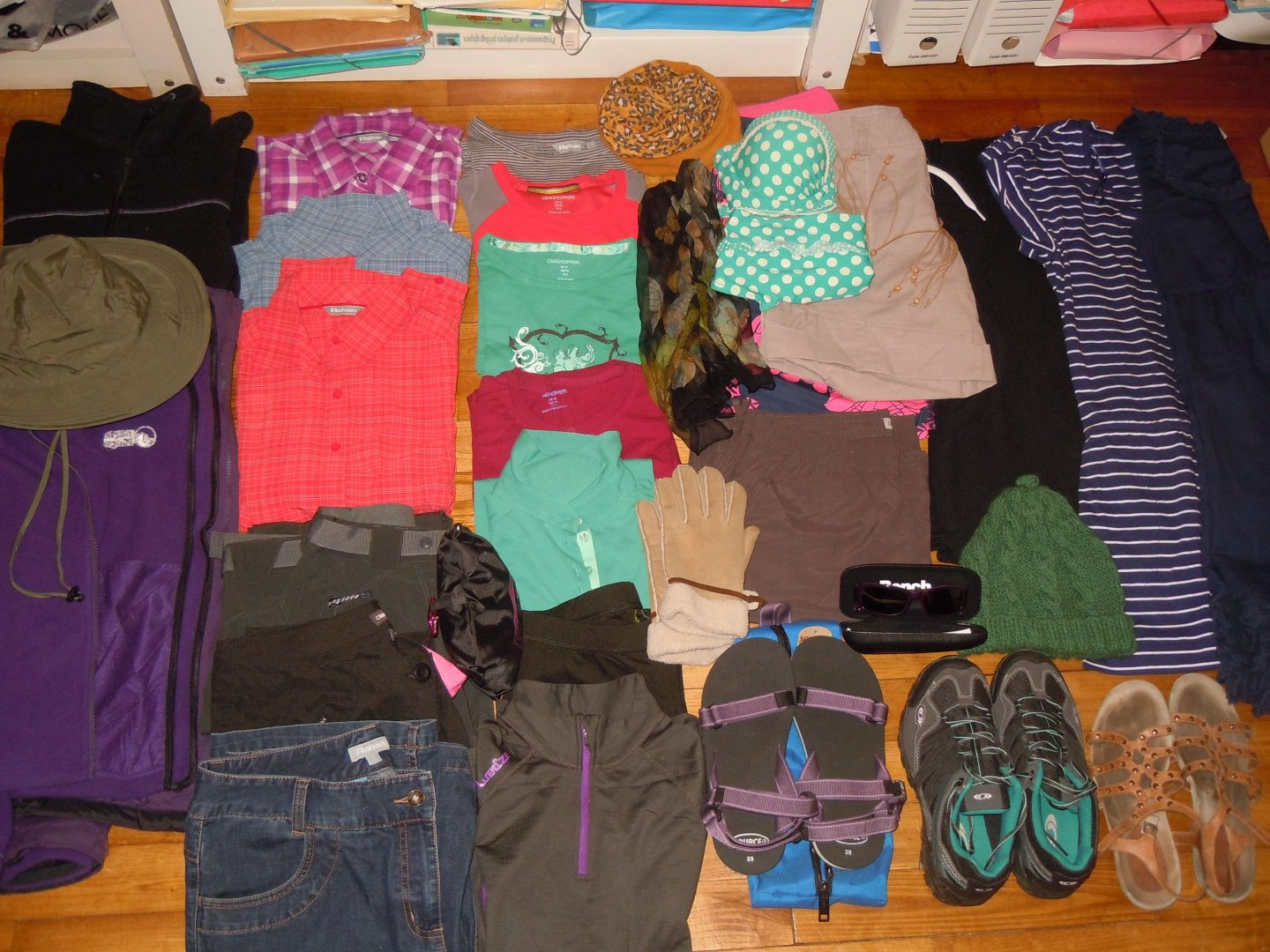 RTW packing list clothes