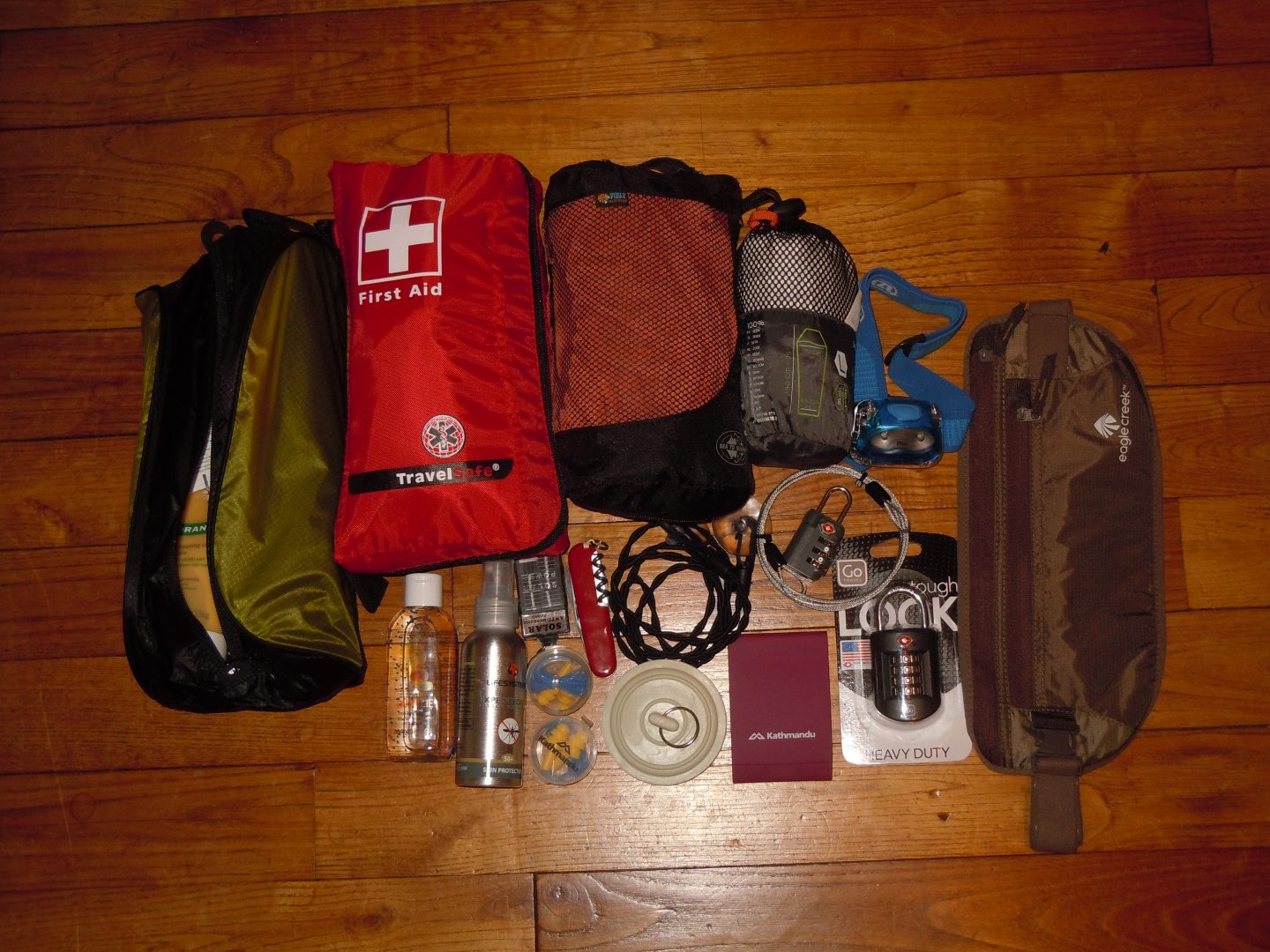 RTW packing list travel accessories