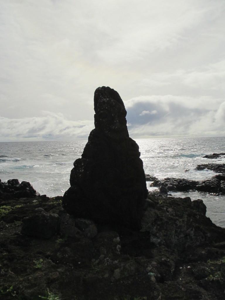 Easter Island lone moai