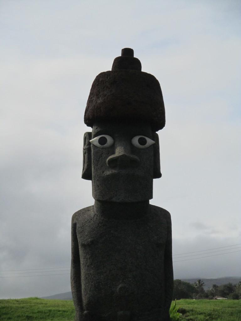 Easter Island, Tahai moai with eyes
