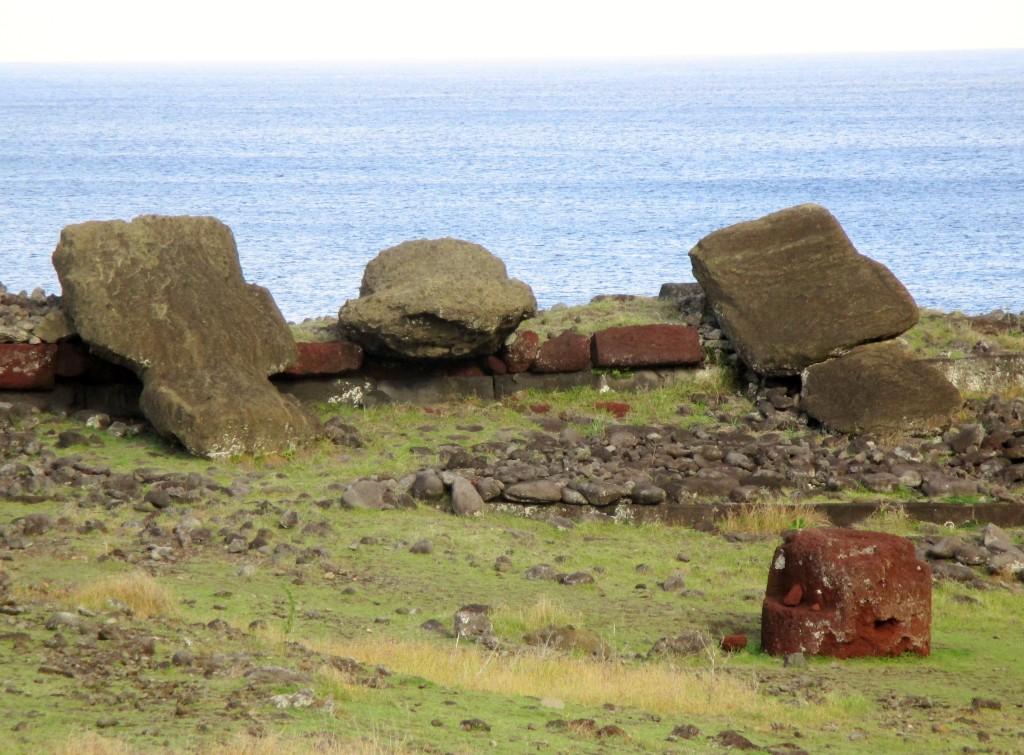 Easter Island fallen moai