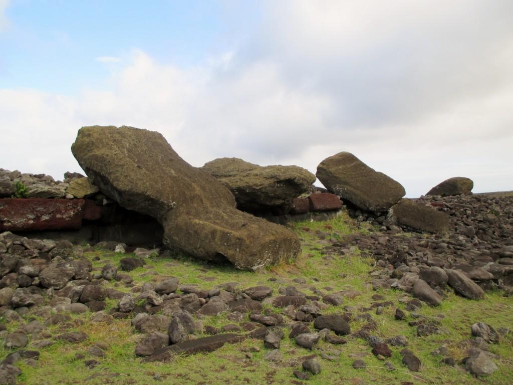 Easter Island sad fallen moai