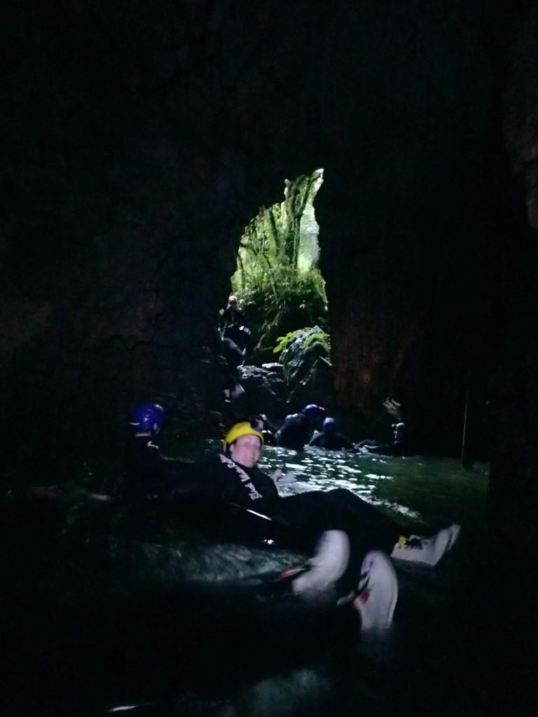 Waitomo Ruakuri Cave exit