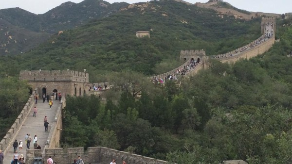 Great Wall of China crowded right section