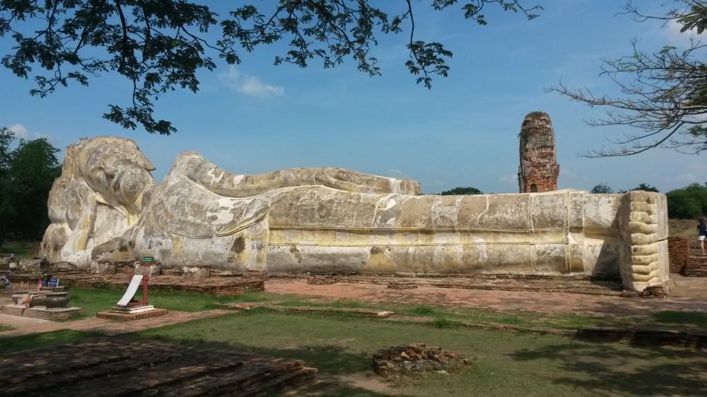 Wat Lokayasutharam temple, Ayutthaya, Thailand