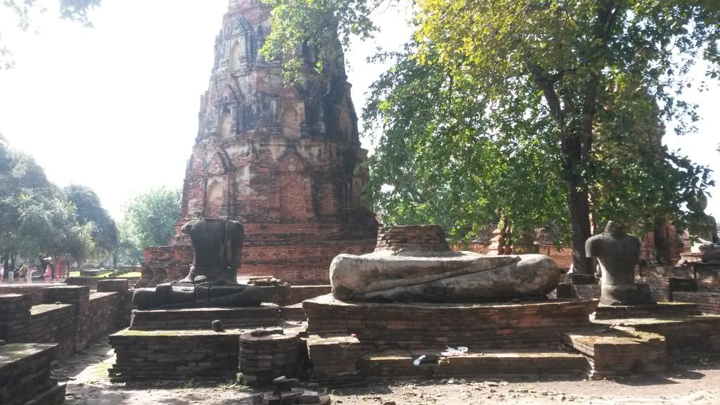 Broken Buddhas Ayutthaya Thailand