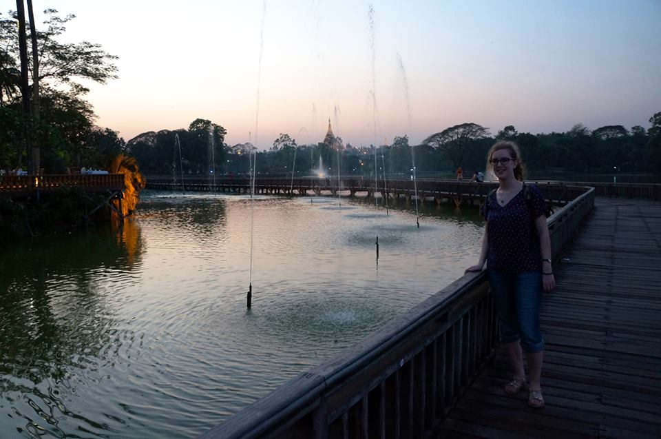 Camille at Yangon Kandawgyi Lake