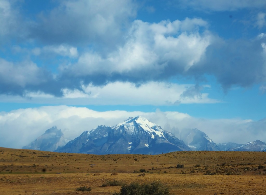 View of Chile's Torres del Paine National Park mountains
