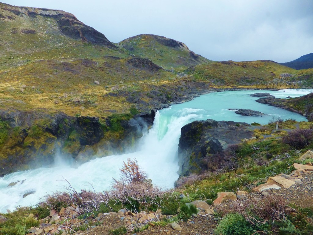 Waterfall in Torres del Paine National Park, Chile