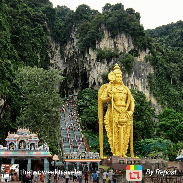 Entrance to the Batu Caves in Malaysia