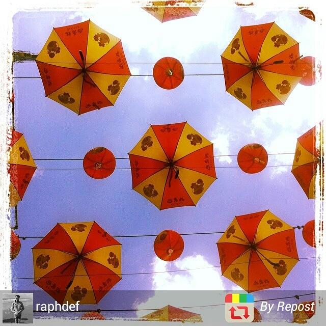 Umbrella installation in Kuala Lumpur, Malaysia