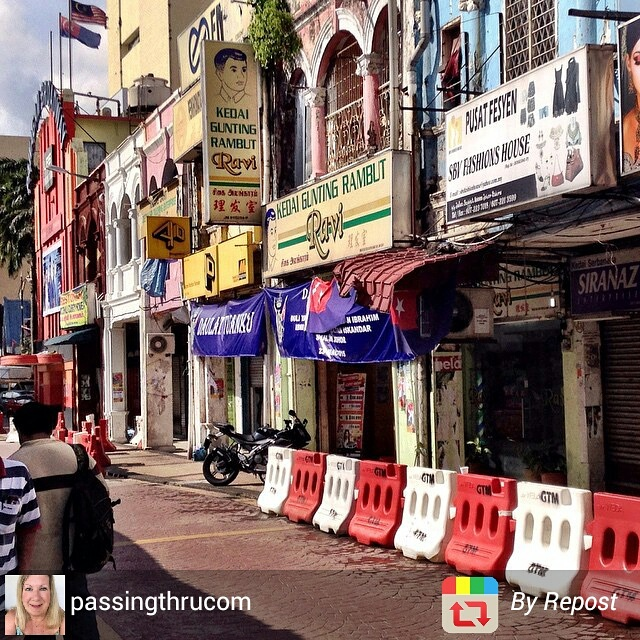 Street scene in Johor Bahru, Malaysia