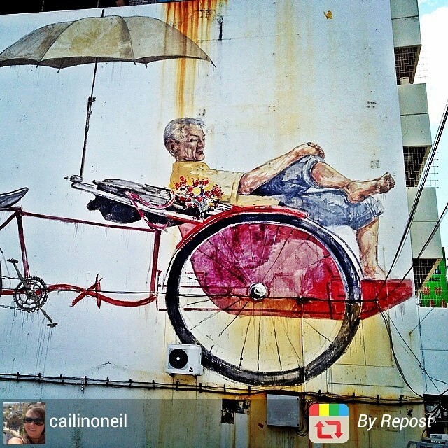 Colourful street art in Georgetown, Penang