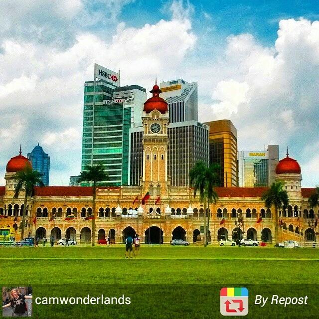 Kuala Lumpur Merdeka Square and banks, Malaysia