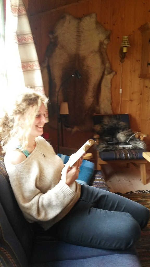 Reading in cottage