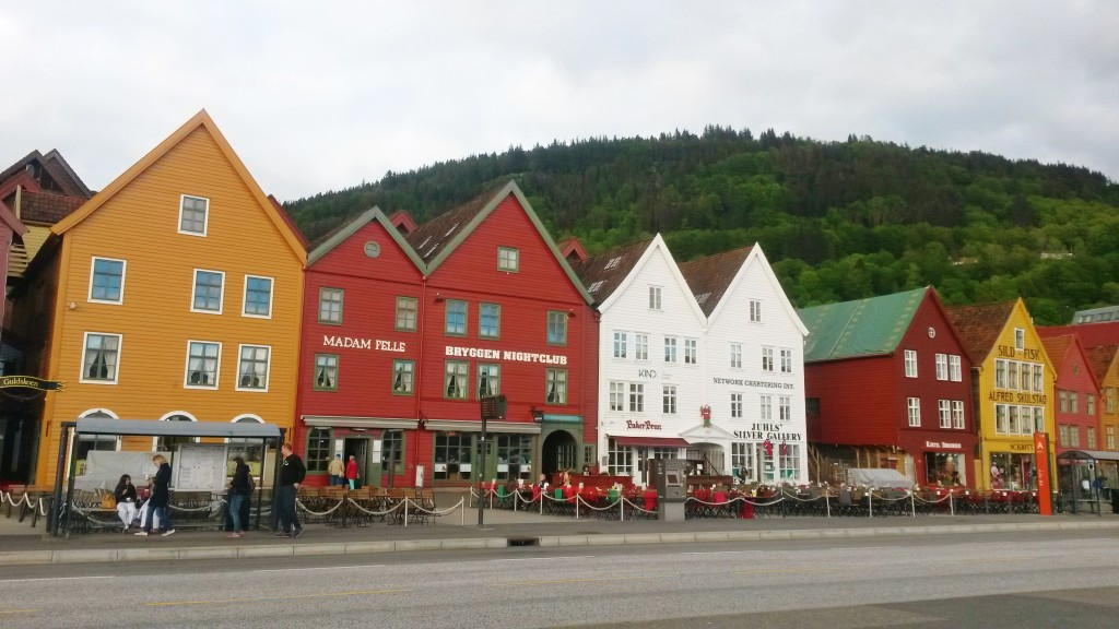 Colourful houses of Bryggen area, Bergen