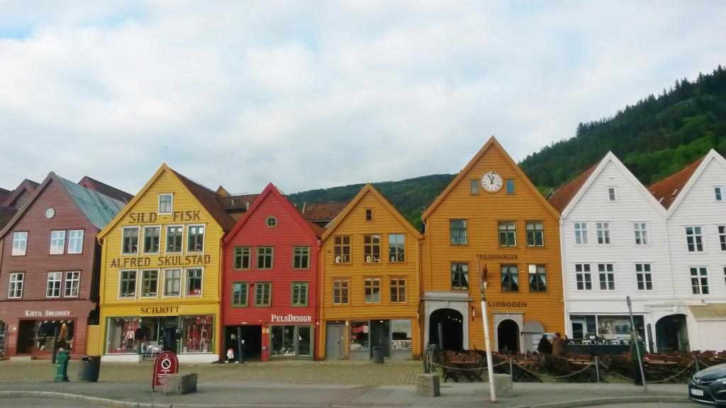 Bryggen Bergen in stormy light