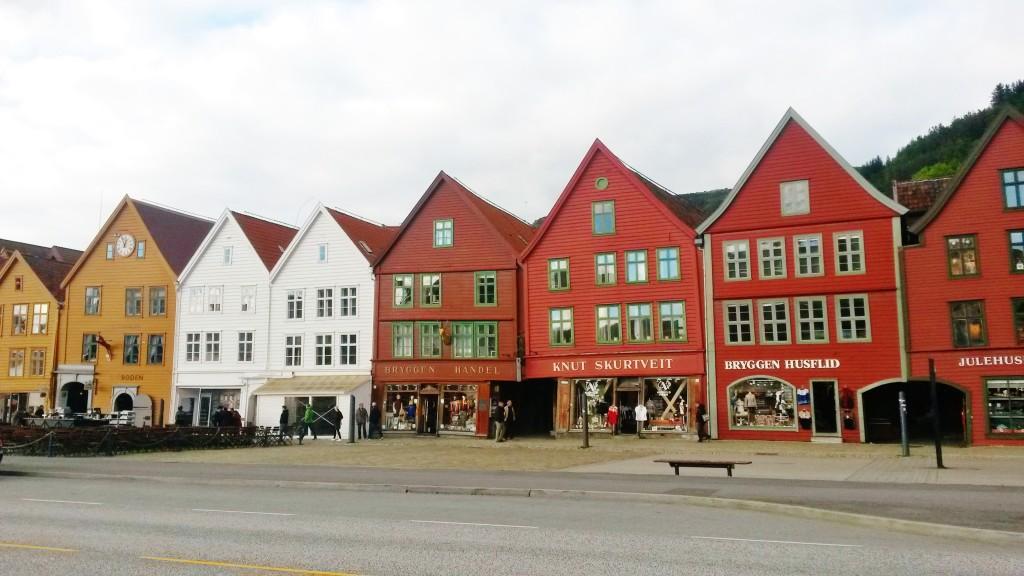 Bergen Bryggen hanseatic houses