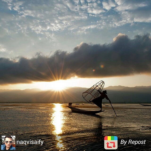 Inle Lake fisherman at sunrise, Myanmar