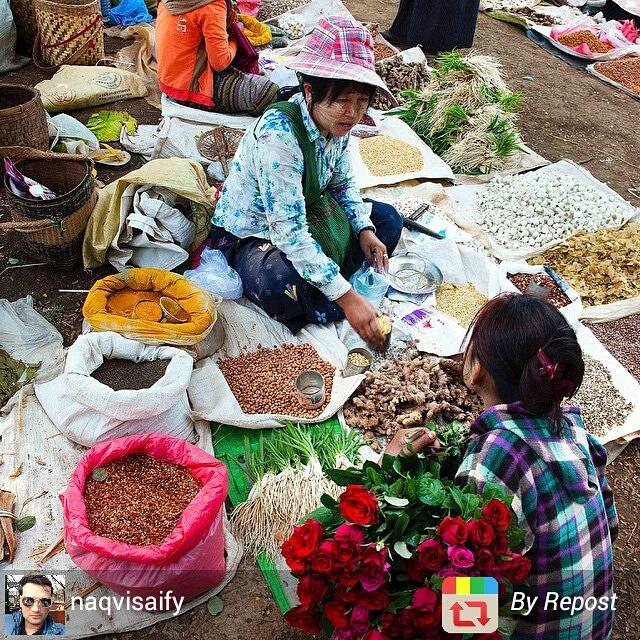 Floating market at Inle Lake, Myanmar