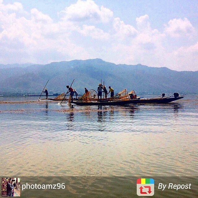 Inle Lake fishing scene, Myanmar
