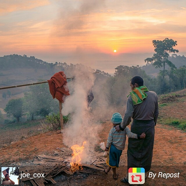 Rural scene in Myanmar countryside