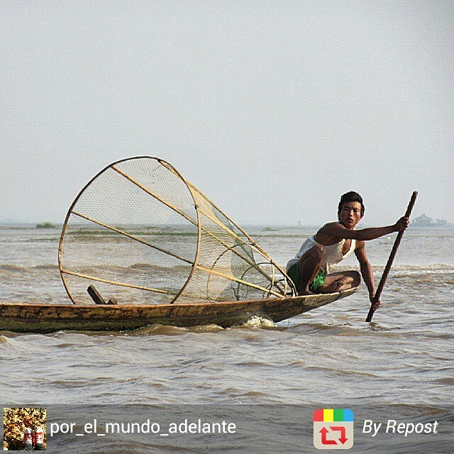Myanmar Inle Lake fisherman in action
