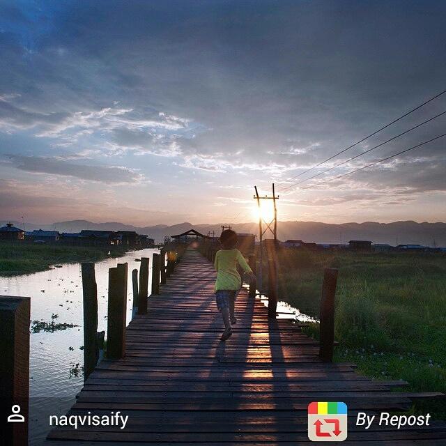 Sunset Inle Lake Myanmar