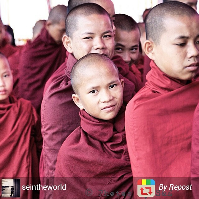 Young monks waiting to graduate in Myanmar
