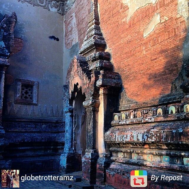 Close-up on Bagan temple, Myanmar