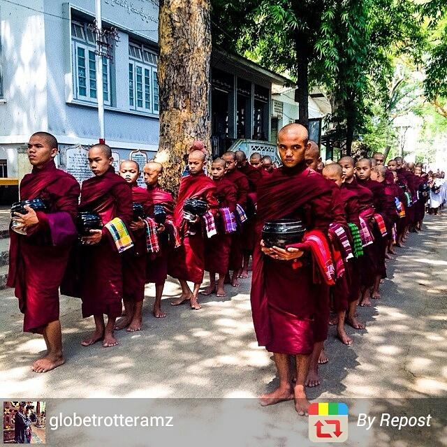 Myanmar monk life