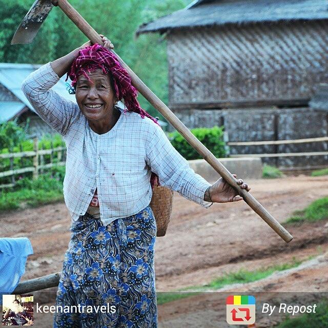 Myanmar rural scene near Kalaw