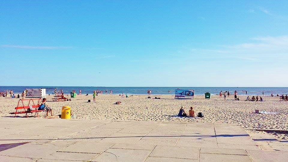 Beach in Parnu, Estonia