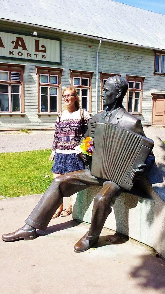 Raimond Valgre statue, Parnu, Estonia