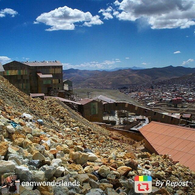 Atop the mining mountain of Potosi, Bolivia