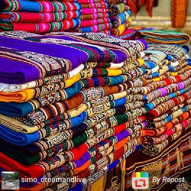 Shopping for textiles at Tarabuco Market, Sucre, Bolivia