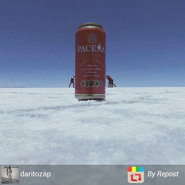 Salar de Uyuni crazy perspective photo, Bolivia