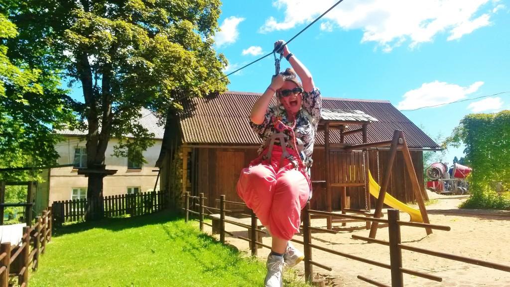 Sigulda Latvia Mezakakis Adventure Park zipline