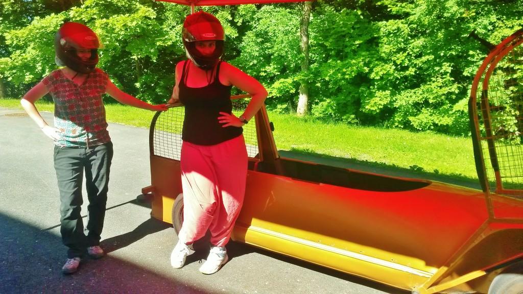 Sigulda Latvia summer bobsleigh ride