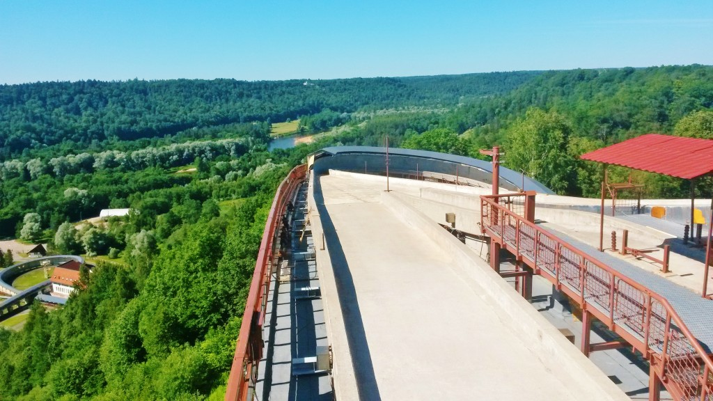 View from Sigulda bobsleigh track, Latvia
