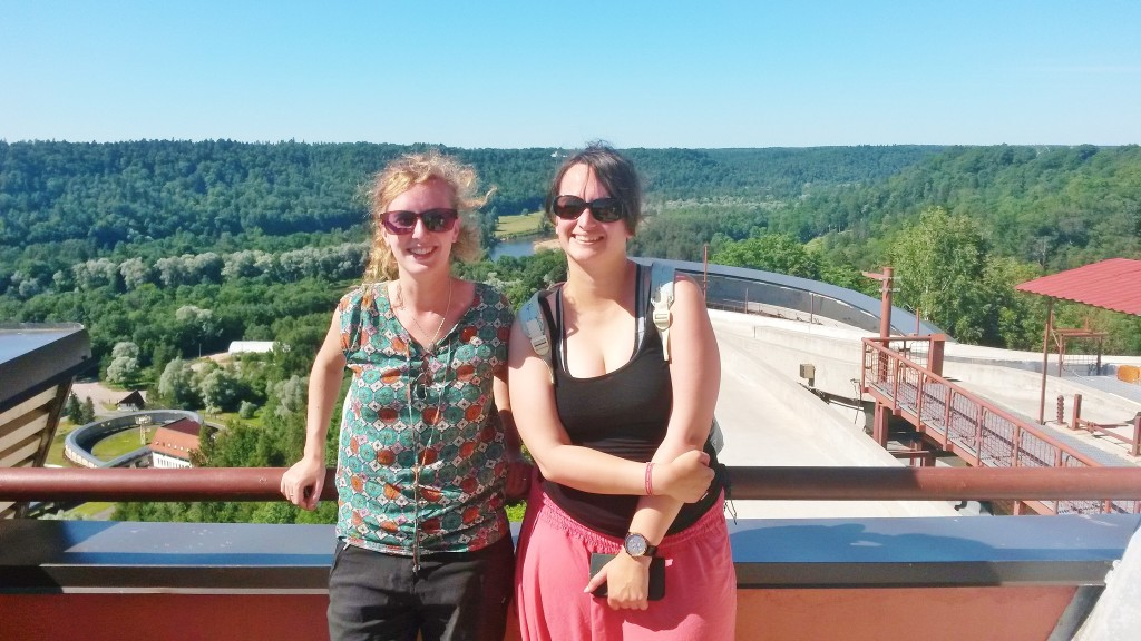 Post bobsleigh ride in Sigulda, Latvia