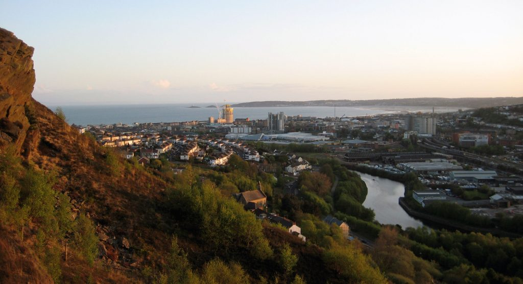 landscape-and-cityscape-view-of-swansea-wales-uk