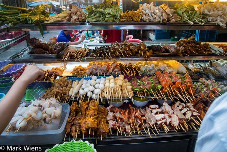 Top things to do in Yangon Myanmar 19th Street BBQ dinner
