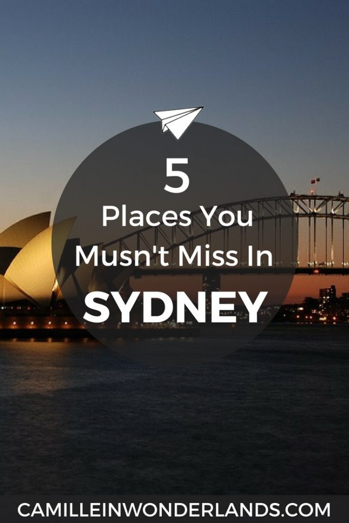 5 Places You Musn't Miss in Sydney Pinterest pin