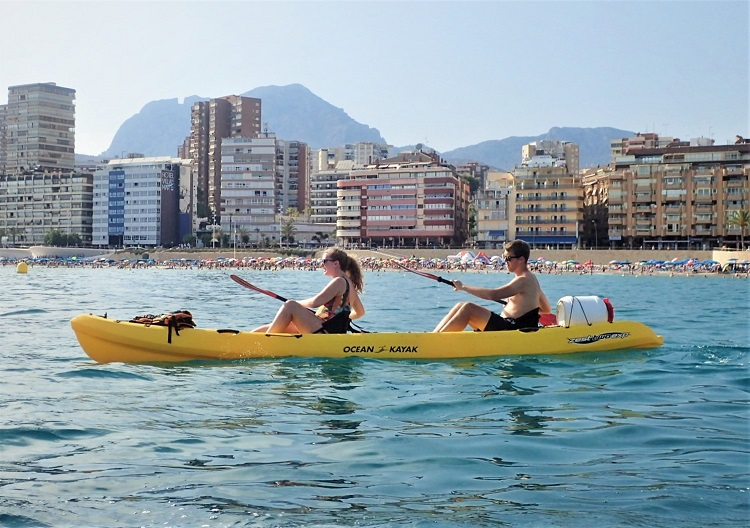 Benidorm things to do Captain Kayak tour