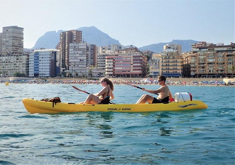 Benidorm things to do Captain Kayak tour