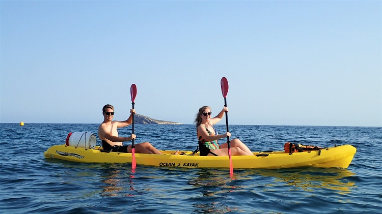 Benidorm things to do kayaking
