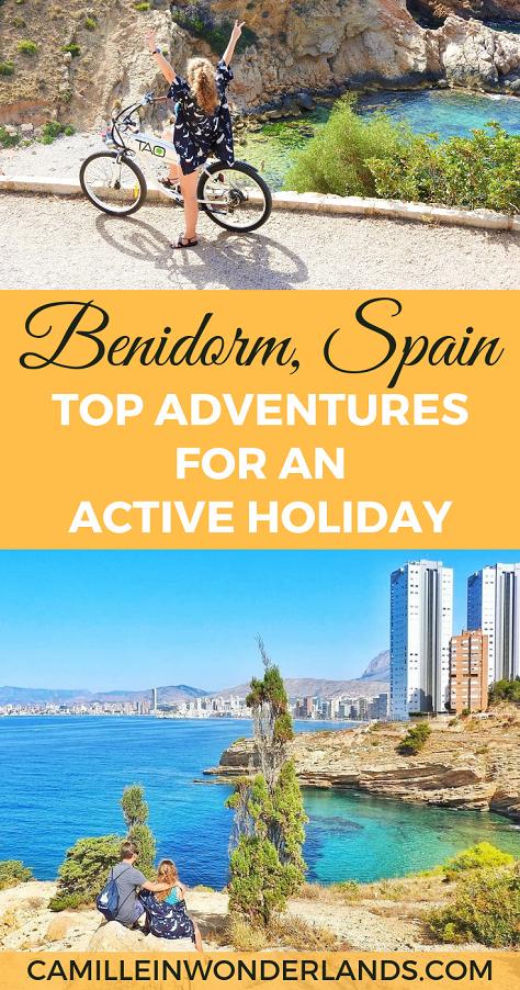 Top adventures in Benidorm Pinterest pin