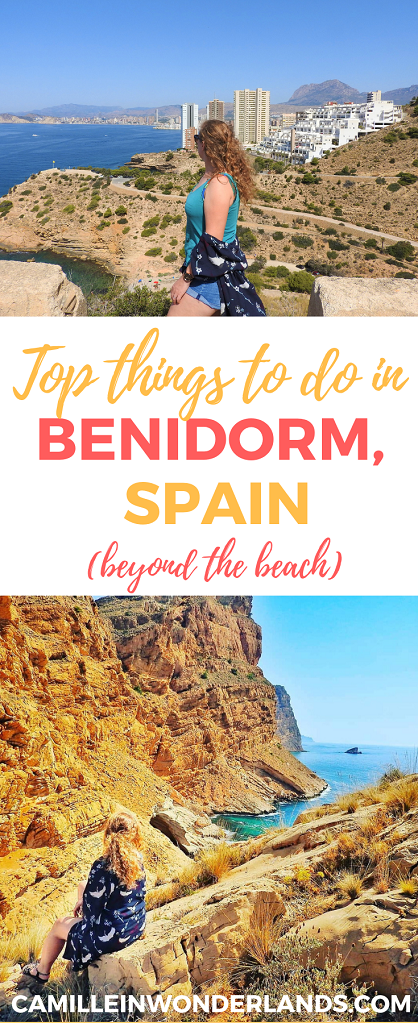 Top things to do in Benidorm Pinterest pin
