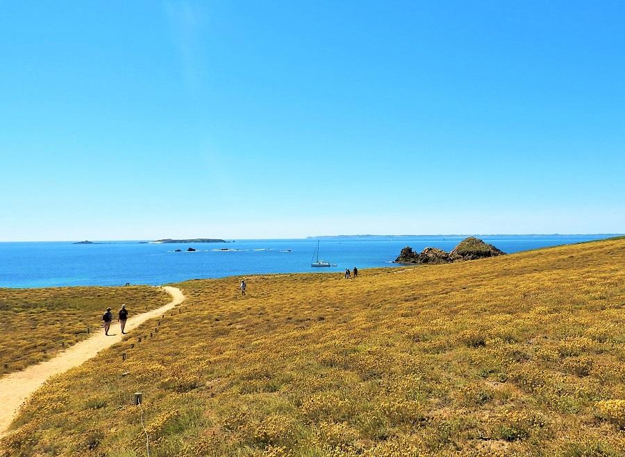 beach vacation hike walk